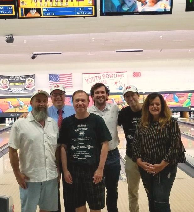Bowling for Hunger event with Assembly Speaker Craig Coughlin